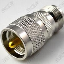 N-UHF N Female jack to UHF PL-239 Male Plug Connector Adapter