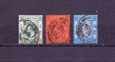 HONG KONG 1903- 1904  Edouard VII  3 timbres