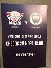 Linkoping FC v Man City Women FC Programme (Season 2017-2018)