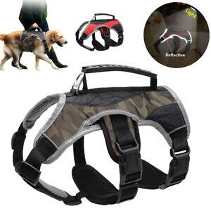 No Pull Dog Harness Reflective Adjustable for Large Breeds Pit Bull Dobermans