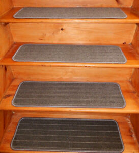 """13  Step 9'' x 30'' +1 Landing 30"""" x 30''  Stair treads Tufted Wool Woven ."""
