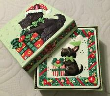 """Rare and Very Collectible Mary Engelbreit """"Scottie Christmas"""" Decorative Plates."""
