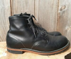 Red Wing Black Leather Beckman Featherstone #9014 Men's sz 8.5 Boots