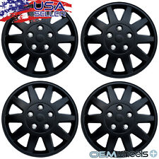 "4 New Black 15"" Hubcaps Fits Kia Suv Car Coupe Steel Wheel Cover Set Hubcaps"