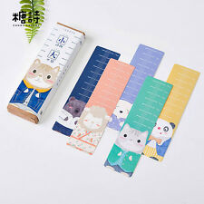 30pc/Box World of Animal Bookmark Book Mark Magazine Note Pad Label Ruler School