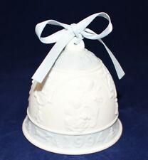 "Lladro 1994 Porcelain Christmas Bell with Blue Ribbon ""Daisa 1993"" Hallmarked"