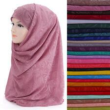 Floral Print Chiffon Muslim Hijab Scarf Shawl Head Wrap Headwear