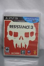 Resistance 3 PS3 2011 Factory Sealed Very Rare Video Game