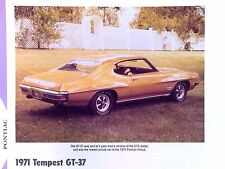 1971 Pontiac Tempest GT 37 350 400 455 ci info/spec/photo prices production 11x8