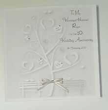 Personalised On Our 10th Wedding Anniversary Card Husband Wife 1st 2nd 5th 15th