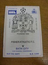 05/09/1987 Fisher Athletic V Bath City. Tutina progs (Altrimenti detto bobfrankandelvis) sono