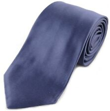 TOM FORD 8cm Satin Blue 100% Silk Tie BNWT