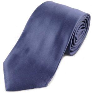 TOM FORD 8cm Satin Blue 100% Silk Tie BNWT RRP £160