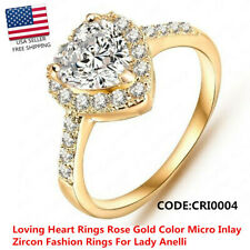 Wedding Finger Gold /Silver Color Micro Inlay Cubic Zircon Fashion Rings Jewelry
