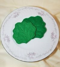 Felt pretend play food - LETTUCE - embroidery - handmade NEW
