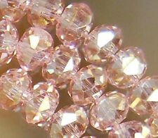 70PCS Pink AB Crystal Loose Bead 8x10mm