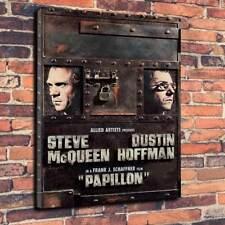 """PAPILLON film, Steve McQueen Scatola stampata foto su tela A1-30""""x20"""" 30mm Deep"""