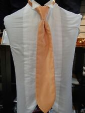 "Men's Formal Long Tie, ""Herringbone"" by Cardi, Orange"