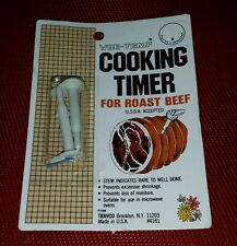 NIP Vintage Vue-Temp COOKING TIMER For Roast Beef Kitchen Collectible TRAVCO USA