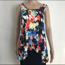 Weston Wear Women's floral Blouse tunic Top Sleeveless Tie in back boho  size XS