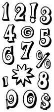 Inkadinkado Clear Stamps - Mod Numbers, Market Stall Prices, Birthday Ages