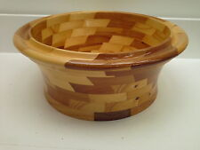 HAND TURNED WOODEN BOWL,  FRUIT OR SNACKS BOWL,  DISPLAY BOWL