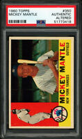 1960 TOPPS #350 MICKEY MANTLE (HOFer) PSA AUTHENTIC ALTERED NM to NM+ Eye Appeal