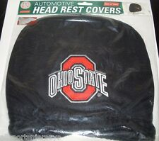 NCAA NWT HEAD REST COVERS -SET OF 2- OHIO STATE BUCKEYES
