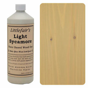 Littlefair's Water Based Rustic Shabby Chic Wood Stain and Dye - Light Sycamore
