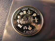 CANADA 2000 COMMUNITY SILVER 25 CENT FROM MINT SET BEAUTY!