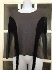 Atmosphere Grey Fringe Top VGC Size 8 Cow-girl