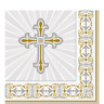 16 RADIANT CROSS LUNCH NAPKINS CHRISTENING CONFIRMATION PARTY TABLE DECORATIONS