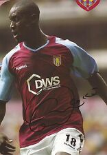 ASTON VILLA: CARLTON COLE SIGNED A4 (12x8) OFFICIAL CALENDAR PICTURE+COA