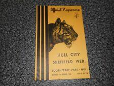 HULL CITY  v  SHEFFIELD WEDNESDAY   1955/6  ~ OCT 1st       *****FREE POST*****