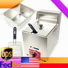 10l Commercial Countertop Gas Fryer Pot Propane Lpg Heating Deep Fryer Basket