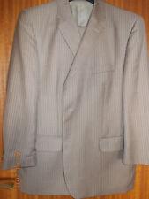 Anzug, Hellbraun mit Nadelstreifen, Größe 28, Berto Lucci, Polyester/Viscose