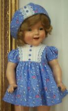"""Dress & Hat for 22"""" Composition Shirley Temple -Doll Not Included"""