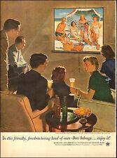 1953 vintage Ad for BEER , US Brewer's Foundation , ART Douglas Crockwell 060217