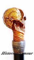 "Gentleman's Walking Canes -36"" Fantasy Skull Head Handle Steel Walking Stick """