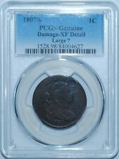 1807/6 PCGS XF Details Large 7 Draped Bust Cent