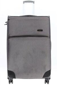 Itluggage 159731 Grey Fabric Suitcase Luggage