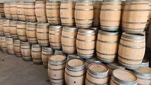 Barrique Weinfass 225L, Eichenfass, Fass, Holzfass, Regenfass, Stehtisch, Garten