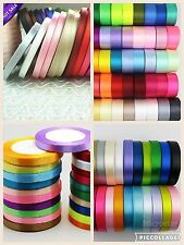 Satin Ribbon Single Faced Sided in 4 sizes 6mm, 15mm, 25mm & 40mm