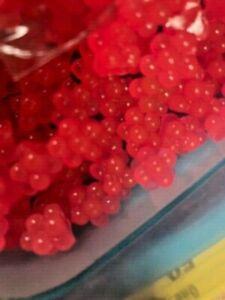 SALMON RIVER STEELHEAD TROUT EGG SACS 20 CT PACK   SHRIMP PINK Scent soft eggs