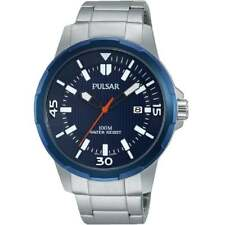 Pulsar Classic Blue Dial Stainless Steel Bracelet Gents Watch PS9367X1
