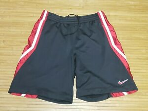 Nike Black Red And White Mesh Athletic Shorts Mens Size XL
