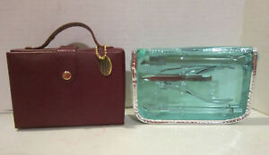Lot of 2 travel manicure sets in cases - new unused - WOLF and unbranded - EC