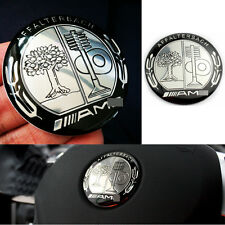 1 Black Appletree AMG Steering Wheel Badge 52mm Emblem Sticker For Mercedes Benz