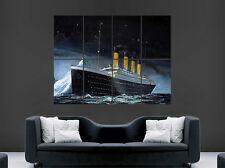 HMS TITANIC NAVE POSTER BARCA STELLATO NOTTE MARE ICEBERG Wall Art STAMPA GIGANTE