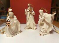Lenox Three Wise Men Kings Nativity Ornament Figures Set #6403919 NIB